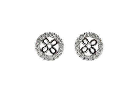 H196-49472: EARRING JACKETS .24 TW (FOR 0.75-1.00 CT TW STUDS)